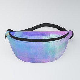Abstract pastel pink lavender navy blue watercolor brushstrokes Fanny Pack