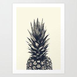 Pineapple, Tropical, Pale Golden, Fruit, Kitchen, Tropical Fruit, Tropical Wall Art, Pineapple Photo Art Print