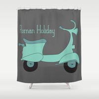 roman Shower Curtains featuring Roman Holiday by Halamo