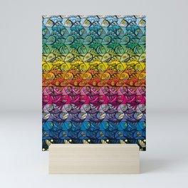 Escher Fish Rainbow Pattern Mini Art Print