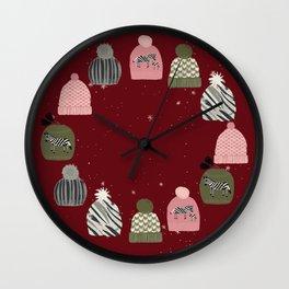 Knitted Zebra Beanie Wall Clock