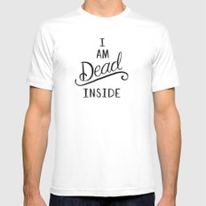 I am dead inside White 2X-LARGE Mens Fitted Tee