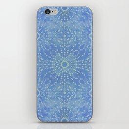 Boho starburst lines sky blue iPhone Skin