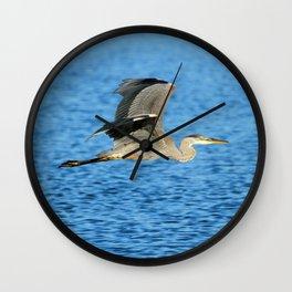 Skimming the lake Wall Clock
