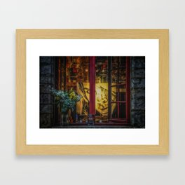 Window of a painter Framed Art Print