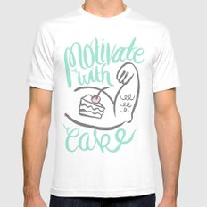 Motivate with Cake Mens Fitted Tee White MEDIUM
