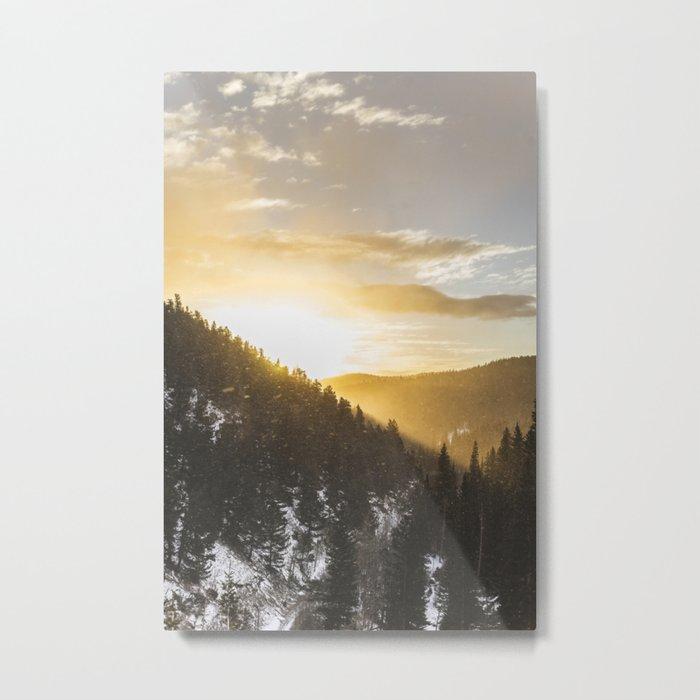 Light Rays Metal Print