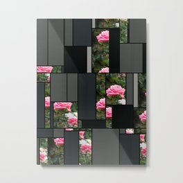 Pink Roses in Anzures 5  Art Rectangles 7 Metal Print