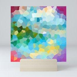 Sea coast - Abstract geometric background Mini Art Print