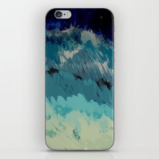 Painting of the wave at the night in a abstract and expressionist way iPhone & iPod Skin
