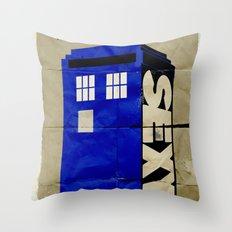 Minimalist Doctor Who  - SEXY TARDIS Throw Pillow