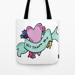 No Thank You Valentine Tote Bag