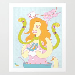 Cream, chili, shoes and a tooth Art Print