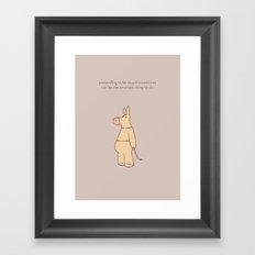 Smart As Framed Art Print