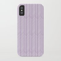 herringbone iPhone & iPod Cases featuring Herringbone Orchid by Project M