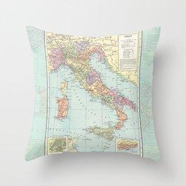 Vintage Italy Throw Pillow