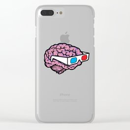 3D Glasses Blow My Mind Clear iPhone Case