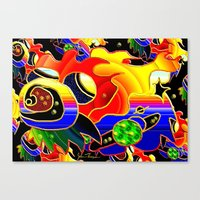 cosmic Canvas Prints featuring Cosmic by JT Digital Art