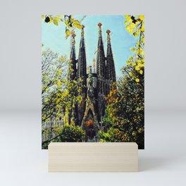 Basilica of the Sagrada Família IV Mini Art Print