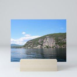 Roger's Rock on Lake George in the Adirondacks Mini Art Print