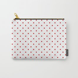 Small Red Polka dots Background Carry-All Pouch