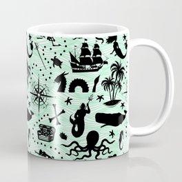 High Seas Adventure // Sea-Green Waves Coffee Mug