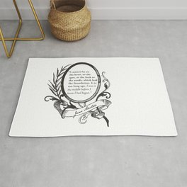 "Jane Austen ""In the Middle"" Rug"