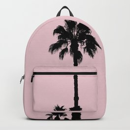 Palm Tree Silhouettes On Pink Backpack