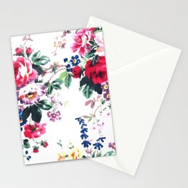 Bouquets with roses Stationery Cards