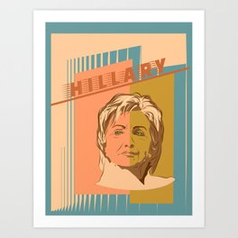 US Senator Hillary Rodham Clinton Art Print