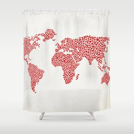 Love, You Are My World Shower Curtain