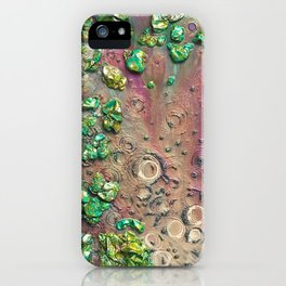 Accretion, drink from the empyrean elixir littered with chimeric loam iPhone Case