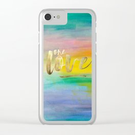 One Love, Ocean Sunrise 2 Clear iPhone Case