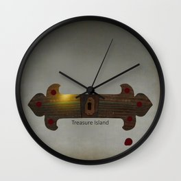 Treasure Island Minimal Poster Wall Clock