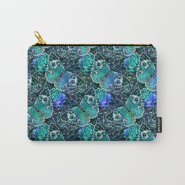 Butterflies In Blue Carry-All Pouch
