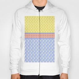 Japanese Stile Geometric Motif Shibori Pattern Hoody