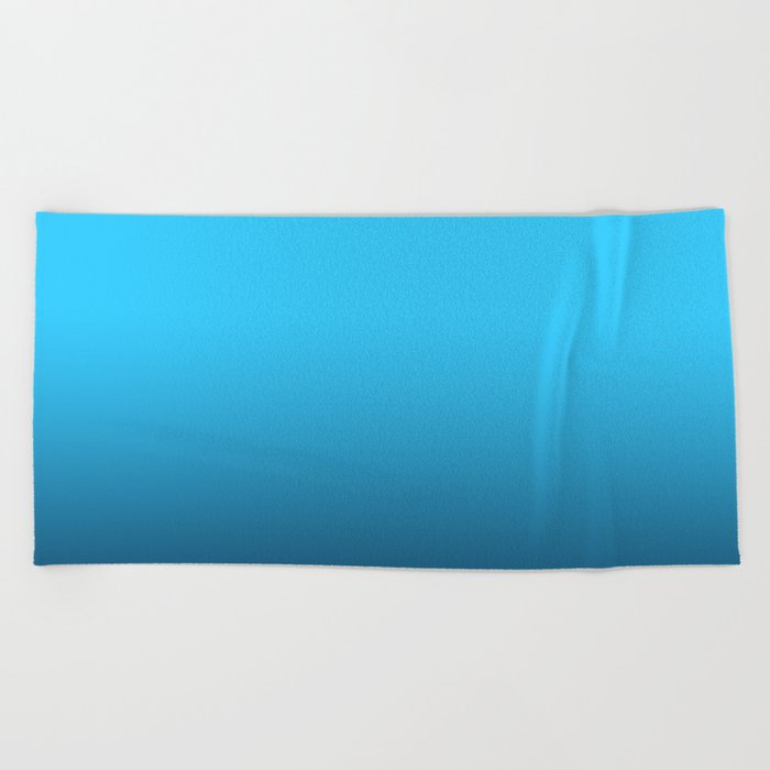 Simply fresh teal blue color gradient - Mix and Match with Simplicity of Life Beach Towel