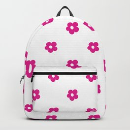 Hot Pink Ditsy Dot Flower Pattern Backpack