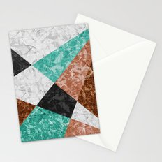 Marble Geometric Background G434 Stationery Cards
