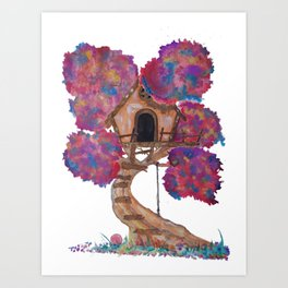 Treehouse II Art Print