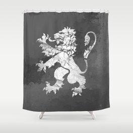 Lion Rampant - Charcoal Grunge Shower Curtain