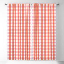 lavender orange plaid gingham Blackout Curtain