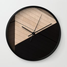 minimalistic facade of a building, shadows and geometric shapes Wall Clock