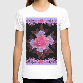 LAVENDER PINK ROSE GARDEN LILAC ROSES FLOWERS Art T-shirt