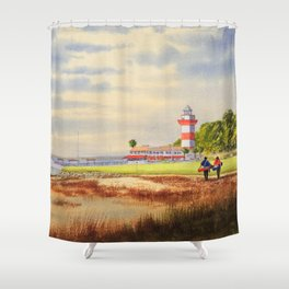 Harbour Town Golf Course SC Shower Curtain