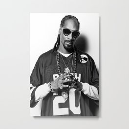 Snoop Dogg Poster ,Gangsta Rap, Hip Hop, Rapper Metal Print
