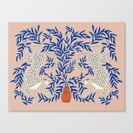Leopard Vase Canvas Print