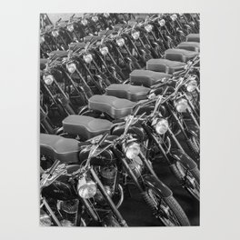 Motorcycles straight from the factory Poster
