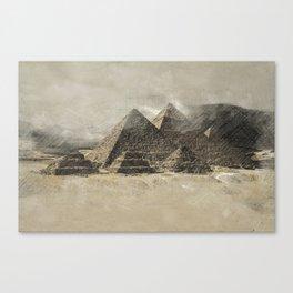 The pyramids - Egypt Canvas Print