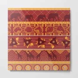 Serengeti Umber Metal Print